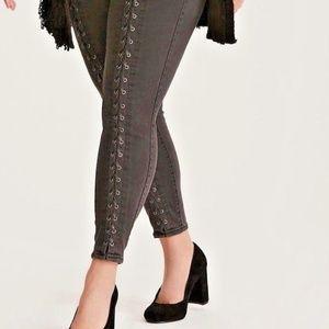 27bbd701c57 torrid Pants - Torrid Jeggings Pants 4X 5X Lace Up Front Corset